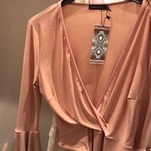 Pink Bodysuit bell sleeves